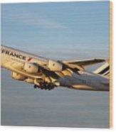 Air France A 380 Wood Print