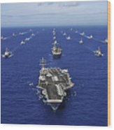 Aircraft Carrier Uss Ronald Reagan Wood Print