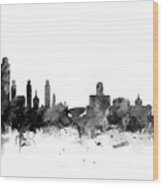 Albany New York Skyline Wood Print