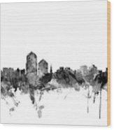 Albuquerque New Mexico Skyline Wood Print