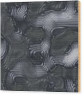 Alien Fluid Metal Wood Print