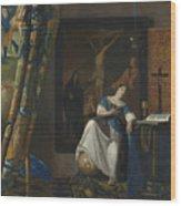 Allegory Of The Catholic Faith Wood Print
