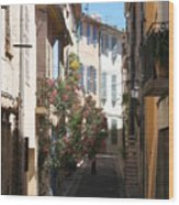 Alley - Provence Wood Print
