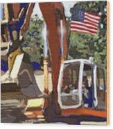 American Tractor Wood Print by Brad Burns