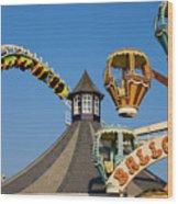 Amusement Park Wood Print