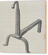 Andiron (one Of Pair) Wood Print