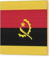 Angola Flag Wood Print