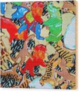 Animal Cookies Wood Print