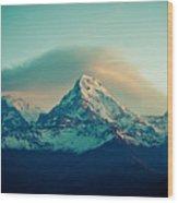 Annapurna South At Sunrise In Himalayas Artmif Photo Raimond Klavins Wood Print