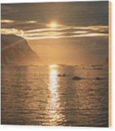 Antarctic Sunset Wood Print