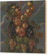 Anthropomorphic Allegory Of Autumn Wood Print
