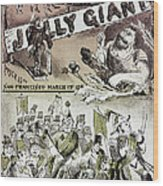 Anti-immigrant Cartoon Wood Print