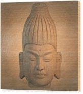 antique oil effect Buddha Burmese.. Wood Print