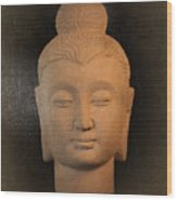 antique oil effect Buddha Gandhara.. Wood Print