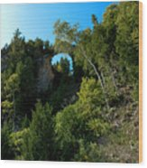 Arch Rock Mackinac Island Wood Print