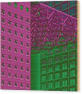 Architectural Abstract Wood Print