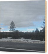 Arizona Mountain Landscape Wood Print