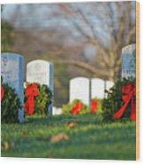 Arlington National Cemetery At Christmas Wood Print
