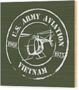 Army Aviation Vietnam Wood Print