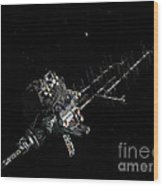 Asteroid Mining Outpost Wood Print
