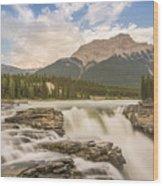 Athabasca Falls Jasper National Park Canada Wood Print