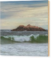Atlantic Waves Wood Print