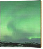Aurora Borealis Or Northern Lights. Wood Print