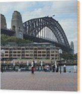 Australia - Sydney Harbour Bridge On Circular Quay Wood Print