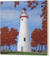 Autumn At Marblehead Wood Print