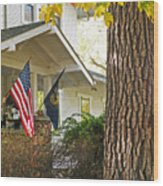 Autumn In Small Town America Wood Print