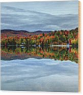 Autumn In The White Mountains Of New Hampshire Wood Print
