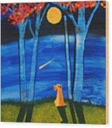 Autumn Moon Wood Print