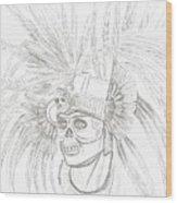 Aztec Warrior Wood Print