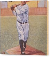 Babe Ruth (1895-1948) Wood Print