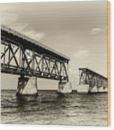 Bahia Honda Bridge Wood Print