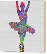 Ballet Dancer-colorful Wood Print