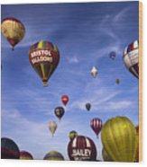 Balloon Fiesta Wood Print