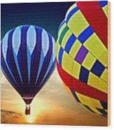 2 Balloons Wood Print