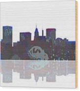 Baltimore Maryland Skyline Wood Print
