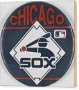 Baseball Button Wood Print