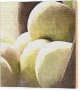 Basket Of Apples Wood Print