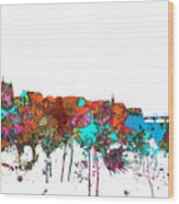 Basle Switzerland Skyline Wood Print