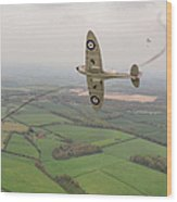 Battle Of Britain Spitfire  Wood Print