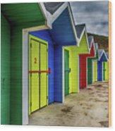 Beach Huts 2 Wood Print