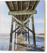 Beach Pier Wood Print