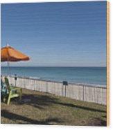 Beachland Boulevard At Vero Beach In Florida Wood Print