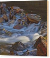 Bear Creek Waterfalls Wood Print