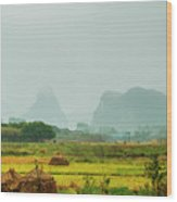 Beautiful Countryside Scenery In Autumn Wood Print