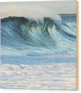 Beautiful Wave Breaking Wood Print