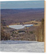 Beautiful Winter Landscape At Timberline West Virginia Wood Print
